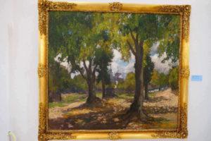 Gustav macoun, obraz, Průhled alejí (Zelená Hora), 1930
