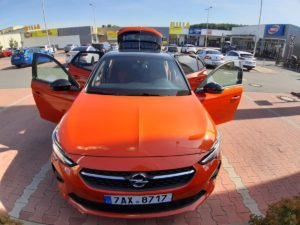 Opel Corsa pohled ze predu