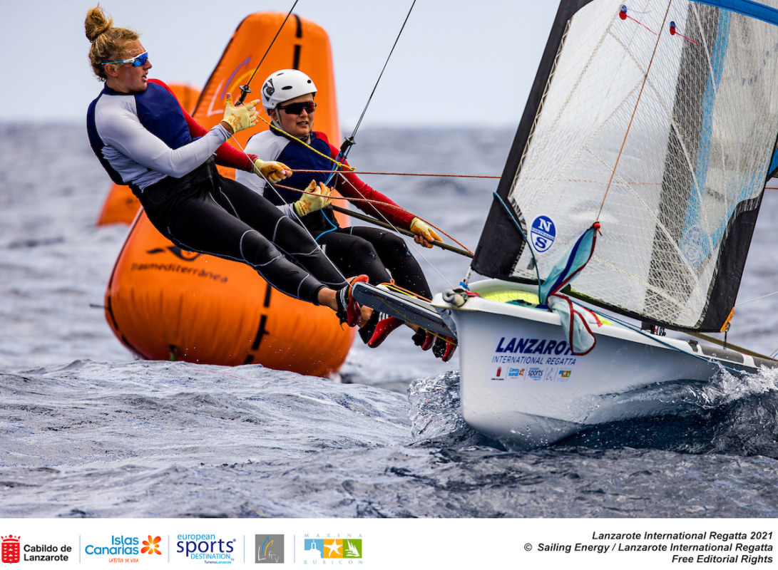 European and African continental qualification regatta for the Tokyo 2021 Olympic Games.Marina Rubicon, Lanzarote, Canary Islands. 22 March, 2021 © Sailing Energy