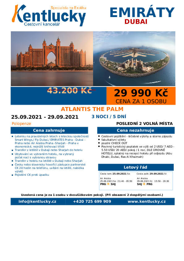 Dubai cestovani