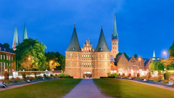 Lübeck Holštýnská brána