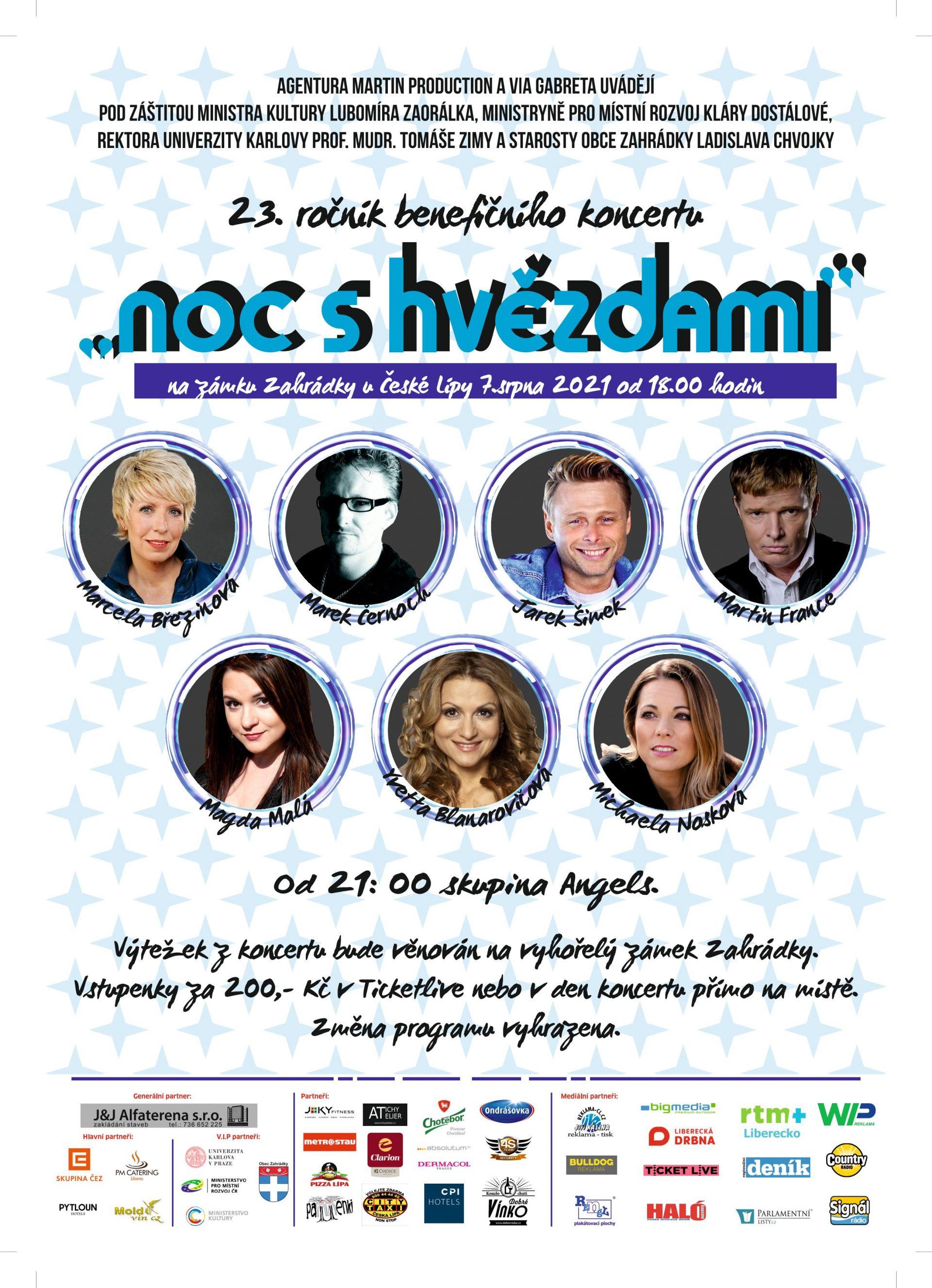 plakát-noc s hvězdami