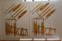 Turbína I a II, 2008, olej na plátně