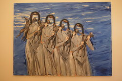 Druhá vlna, 2013, olej na plátně