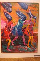 Zatahej mě za vlasy, 2015, olej na plátně