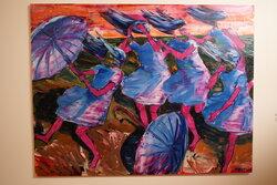 Bouře, 2015, olej na plátně