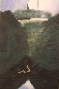 Josef Šíma,Pád Ikarův,1936,kvaš,papír