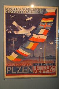 Plakát mezinárodního leteckého dne v Plzni,1931