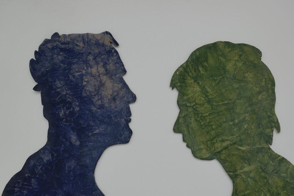 Kmentová, Ty a já,1975,papír,pigment v akronexu,sololit